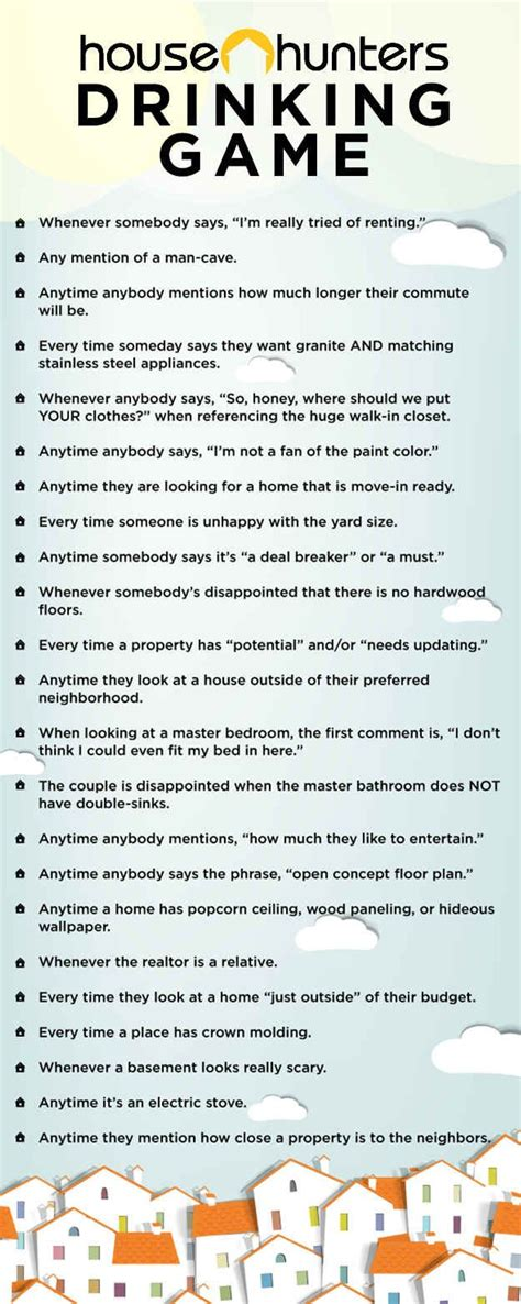 The House Hunters Drinking Game Life Cheating