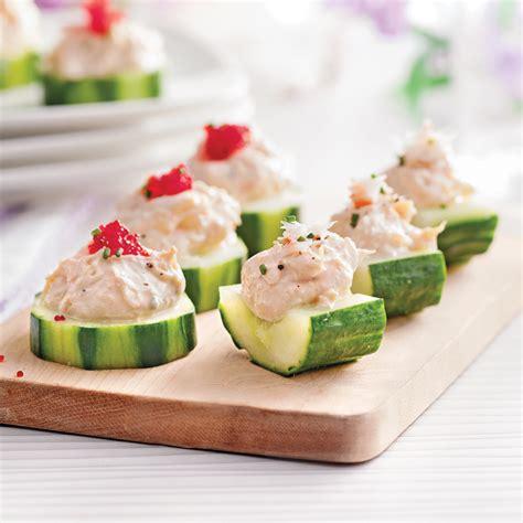 cuisine concombre canap 233 s de concombre 224 la mousse de crabe recettes