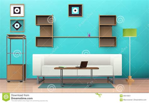 room layout vector living room isometric design stock vector image 69310651