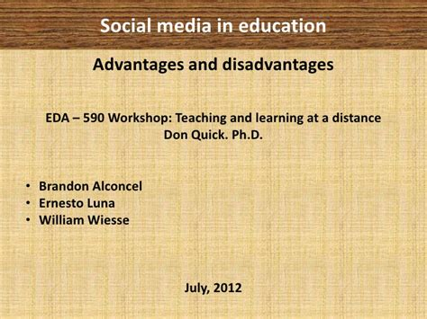 Advantages And Disadvantages Of Social Networks Essay by Social Media In Education Advantages Disadvantages