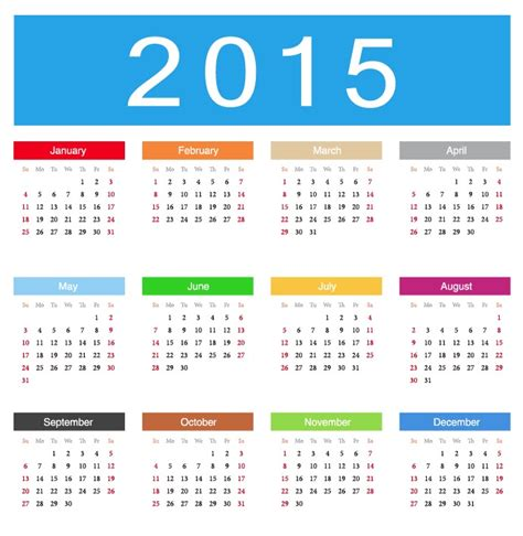 calendar design 2015 vector free download 2015 calendar vector illustration free vector graphics