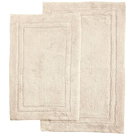 luxurious bathroom rugs 2 luxurious cotton bath rug set with non slip