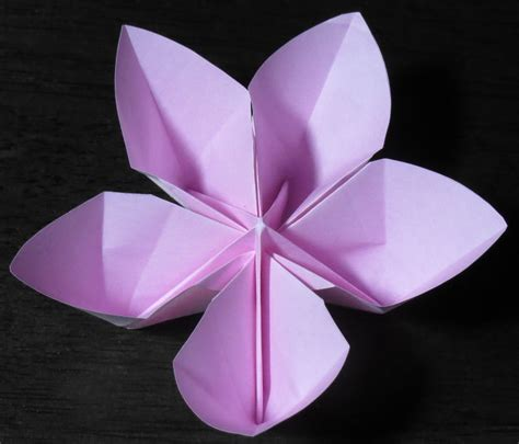 Printable Origami Flower - 5 petaled flower printable origami