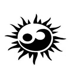 stencil sun yin yang