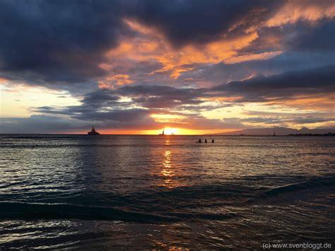 Hawaii Motive by Sunset Am Waikiki Auf Hawaii Postkartenmotive