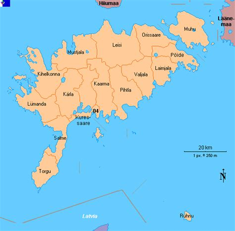 clickable map  saaremaa estonia