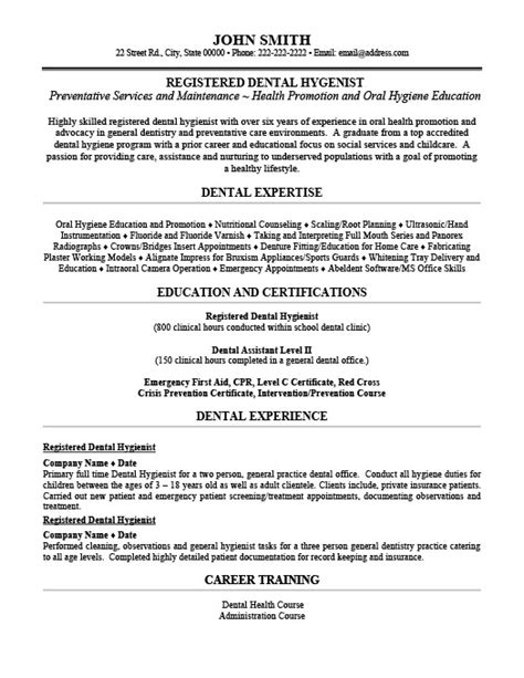 Dental Hygiene Resume Sle by Registered Dental Hygienist Resume Template Premium Resume Sles Exle