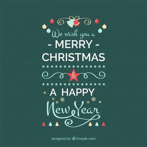 merry christmas   happy  year vector