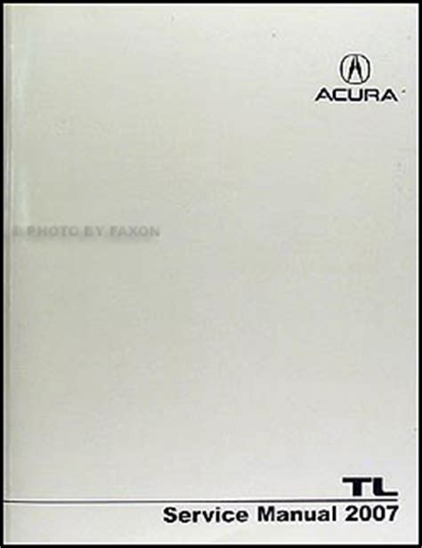 2007 2008 acura rdx repair shop manual original 2007 2008 acura tl repair shop manual original