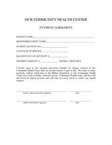 Payment Agreement Letter by Monthly Service Contract Template Bestsellerbookdb