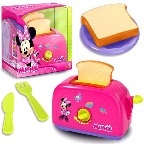 Toaster Ebay Disney Minnie Mouse Pink Girls Kitchen Cooking Role Play