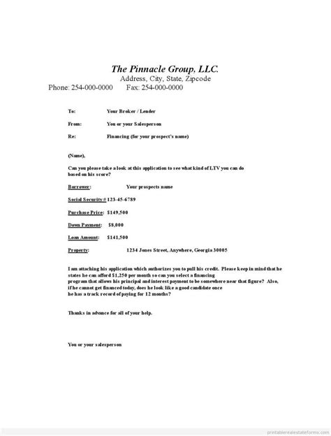 Loan Broker Fee Refund Letter Template 653 Best Images About Printable Forms On Free Printable Real Estate Forms And