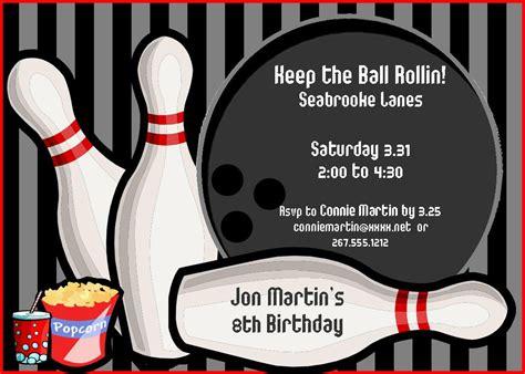 free printable birthday bowling invitations