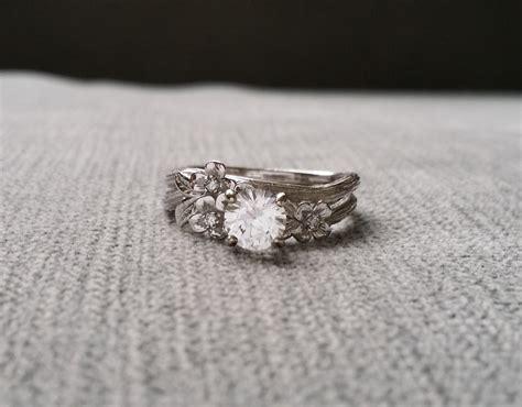 Nature Inspired Engagement Rings on Etsy   Emmaline Bride