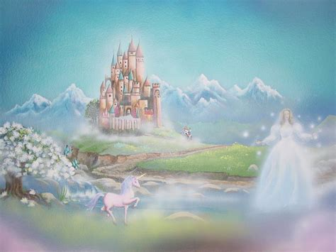 Home Planners Inc fairytale mural with fairy and castle from skywoods