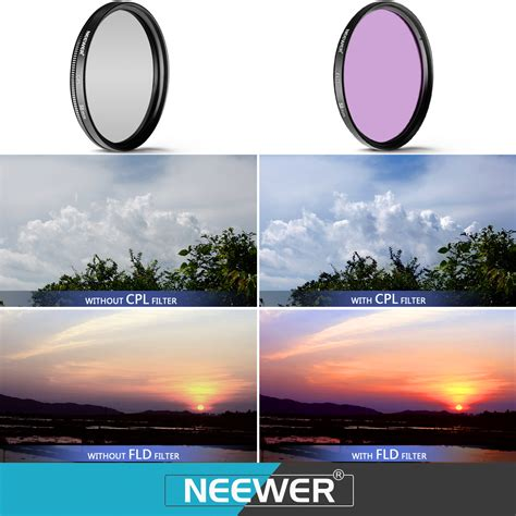 58mm professional uv cpl fld lens filter and up