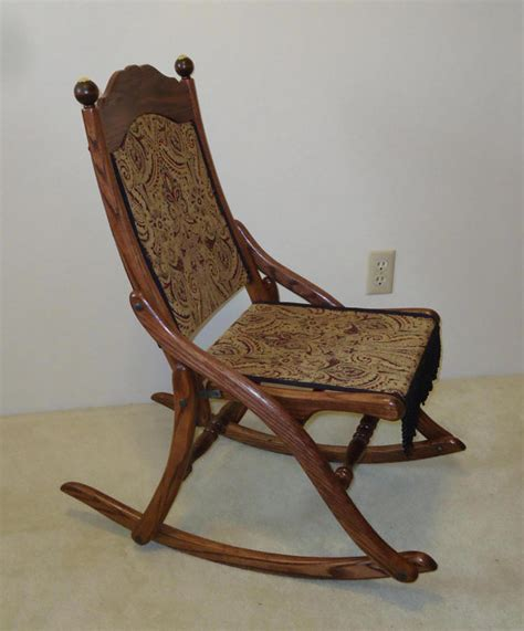 Folding Rocking Chairs by Civil War Folding Rocking Chair