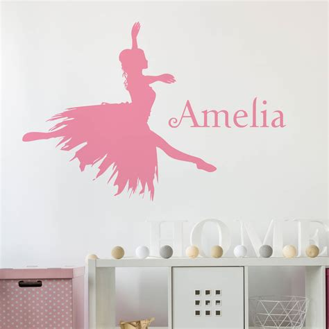 ballerina wall stickers personalised ballerina wall sticker by nutmeg