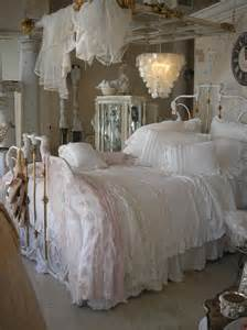 vintage chic bedroom pretty pink and white lace bedroom with white wrought iron
