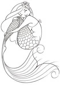 mermaid coloring pages for adults coloring pages mermaid coloring home