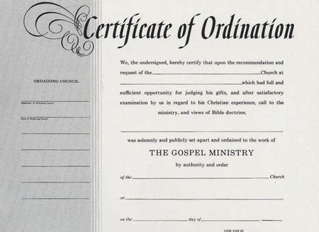template for ordianation wallet cards ordination certificate templates 10 best images of sle