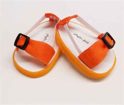 American Handmade Shoes - american 18 doll shoes sandals orange handmade