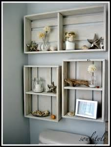 Decorating Ideas For Bathroom Shelves by 17 Diy Space Saving Bathroom Shelves And Storage Ideas