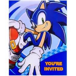 sonic the hedgehog invitations birthdayexpress com
