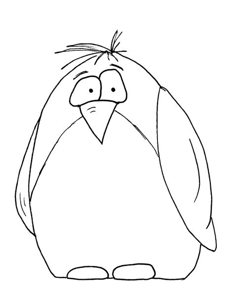 happy cartoon penguin coloring pages