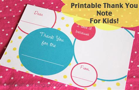 printable thank you notes uk craft whatever printable kids thank you notes