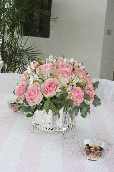 Arreglos De Mesa Para Bautizo Con Flores | centro de mesa para bautizo ni 241 a centros de flores