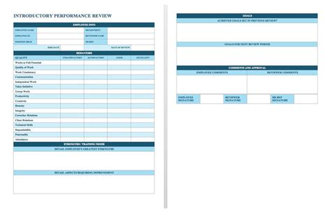 employee performance review template free appraisal template masir