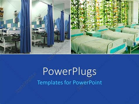 powerpoint templates free download hospital powerpoint template two layouts of hospital beds and blue