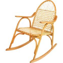 snowshoe oak rocking chair with rawhide lacing by vermont
