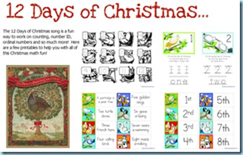 twelve days of christmas work 12 days of printables 1 1 1 1