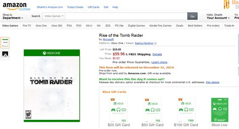 microsoft is the publisher of rise of the tomb raider microsoft publishing rise of the tomb raider not square