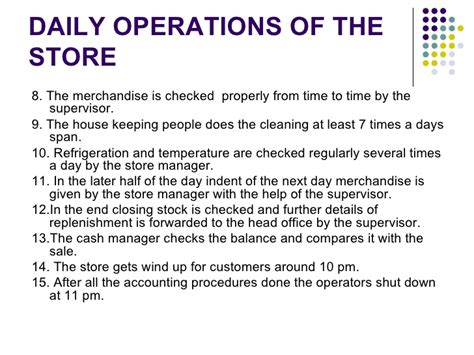 store operations manual template analysis of store operations