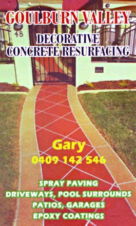 decorative concrete victoria goulburn valley decorative concrete resurfacing