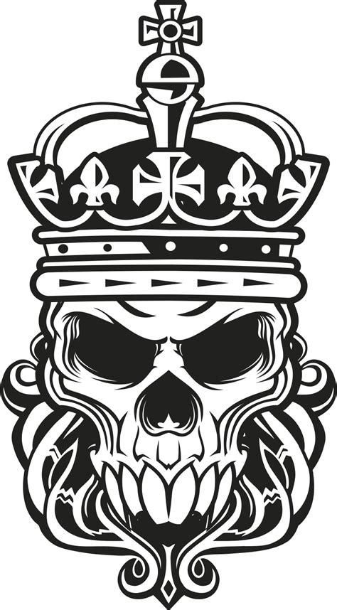 skull king vector art  vector cdr  axisco