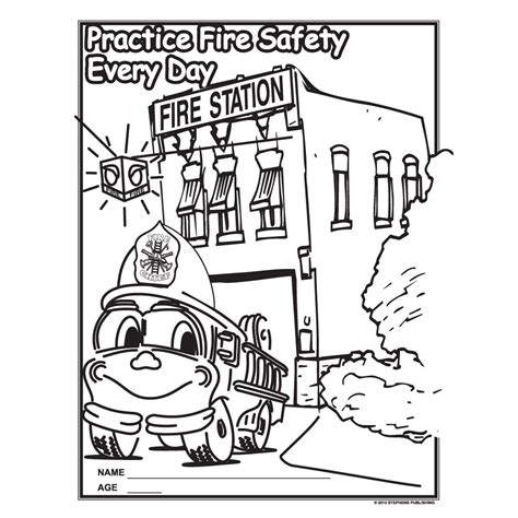 fire prevention week coloring pages auromas com
