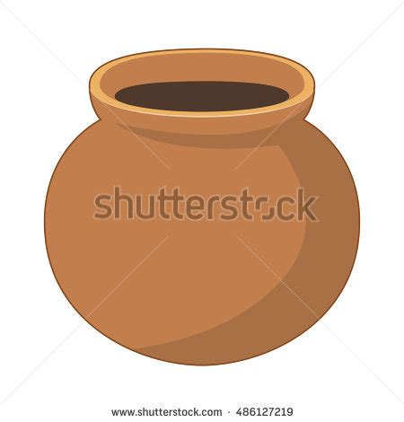 Pot Clay Gold Cactoon earthen pot stock images royalty free images vectors