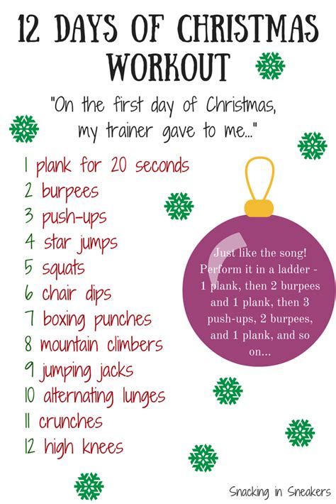 s day beginning song 12 days of workout snacking in sneakers