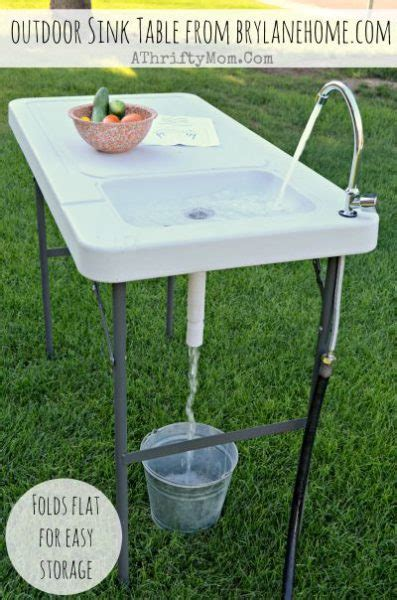 outdoor kitchen table with sink outdoor sink table review and giveaway from brylanehome