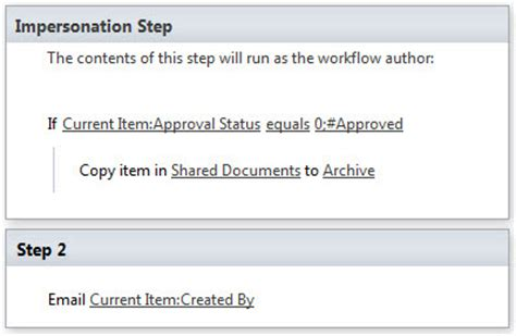 sharepoint 2010 workflow impersonation step impersonation in sharepoint designer 2010 workflow