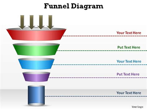 Sales And Marketing Circular Funnel Diagram Style 3 Slides Diagrams Templates Powerpoint Info Sales Funnel Template Powerpoint Free