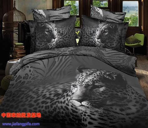 white tiger bed set 3d black and white animal tiger leopard print bedding comforter sets size duvet cover
