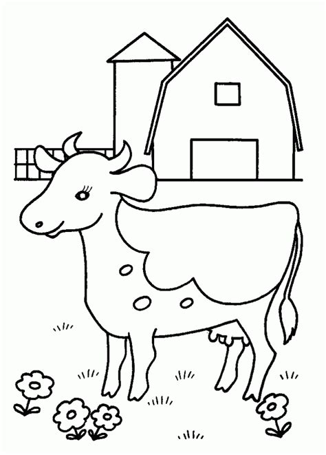 simple cow coloring page simple cow coloring pages for kids great coloring pages