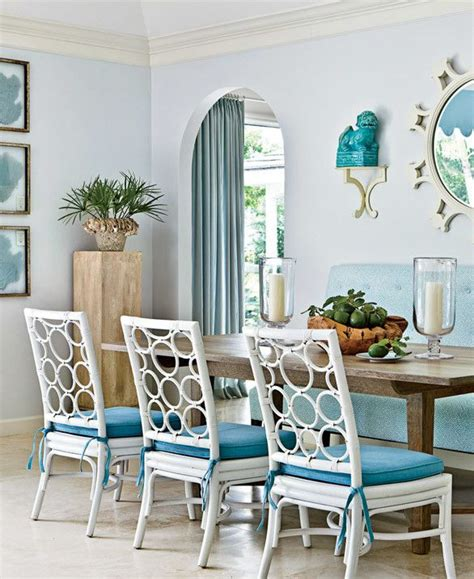 Dining Room Coastal Decor Inspirations On The Horizon Coastal Aqua Design