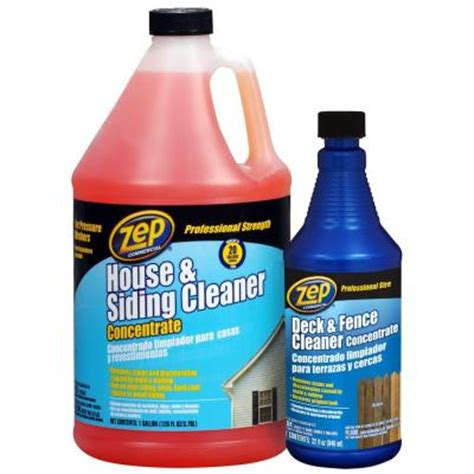 house and siding cleaner zep 128 oz house and siding cleaner with 32 oz deck and fence cleaner value pack
