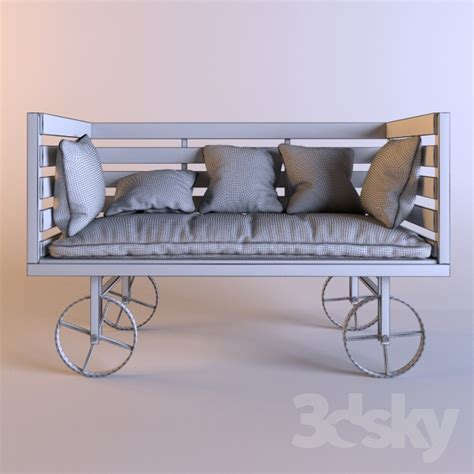 industrial style sofa 3d models sofa rise only vintage industrial style sofa